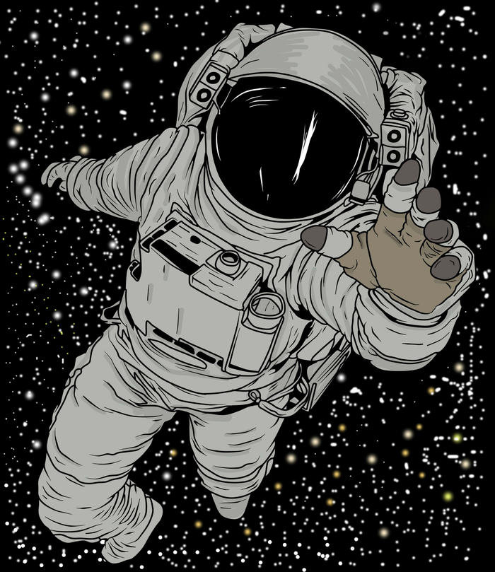 break dancing astronaut drawing - 700×809