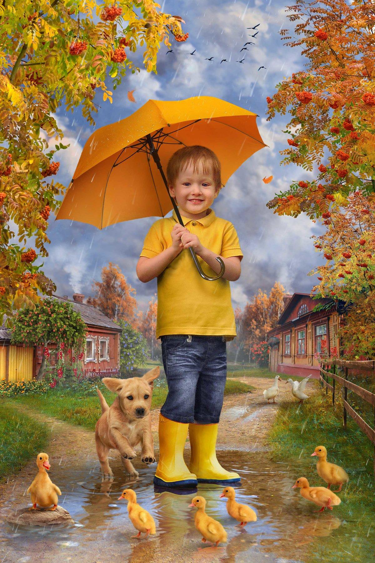 Летию, открытки об осени для детей