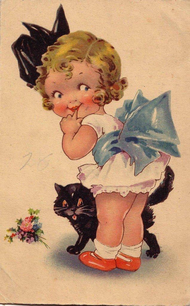 Старинные открытки для детей, открытки