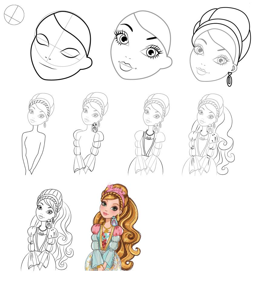 Рисовать картинки для девочек легкие поэтапно