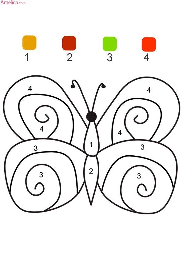 «Раскраски по номерам распечатать для детей, раскраски по ...
