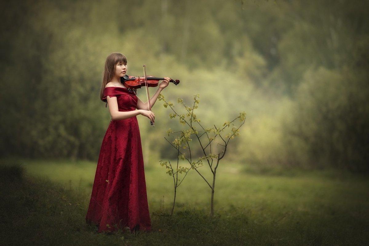 Картинки девочка со скрипкой