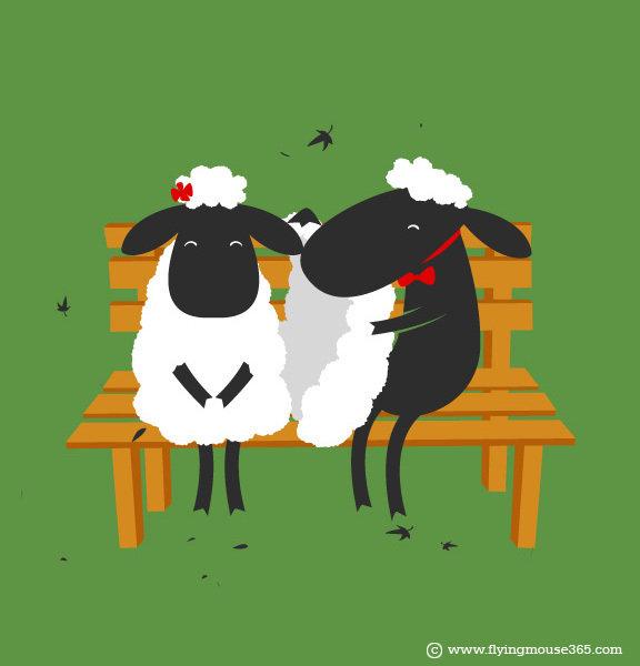 Картинки, овцы на открытках