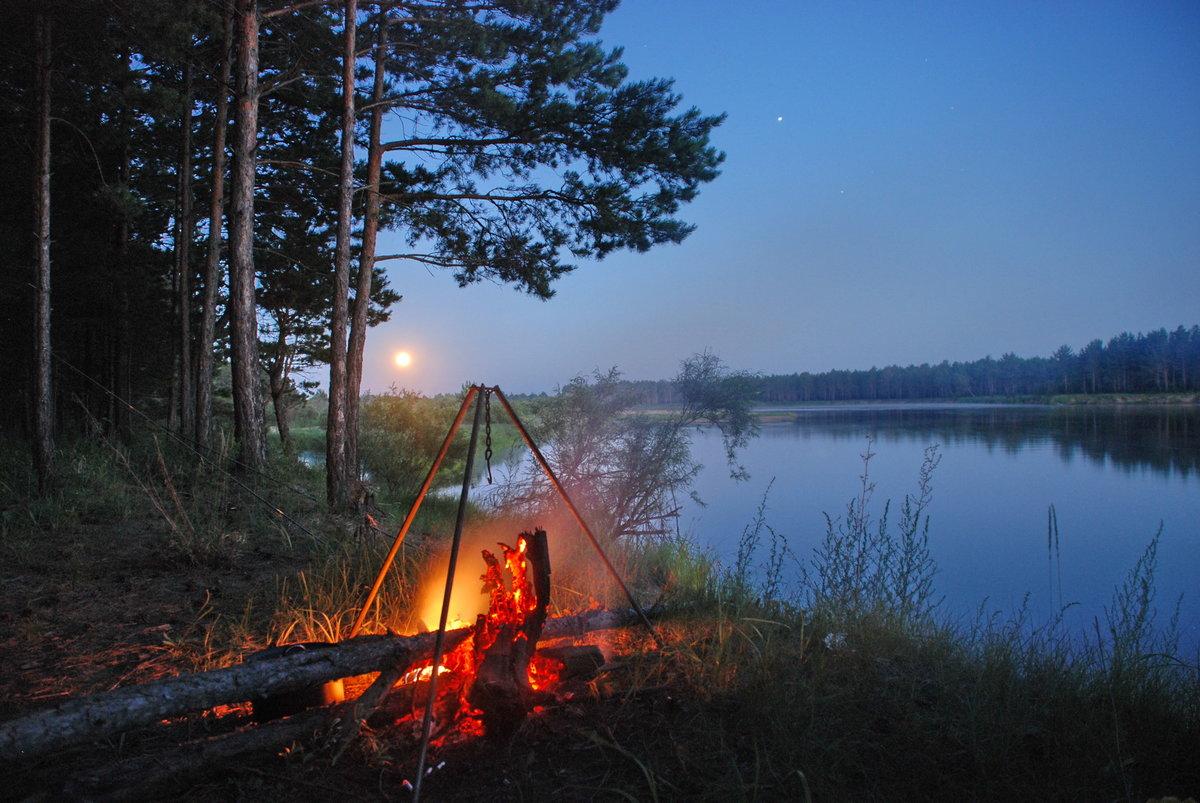 Рыбалка на природе в походе