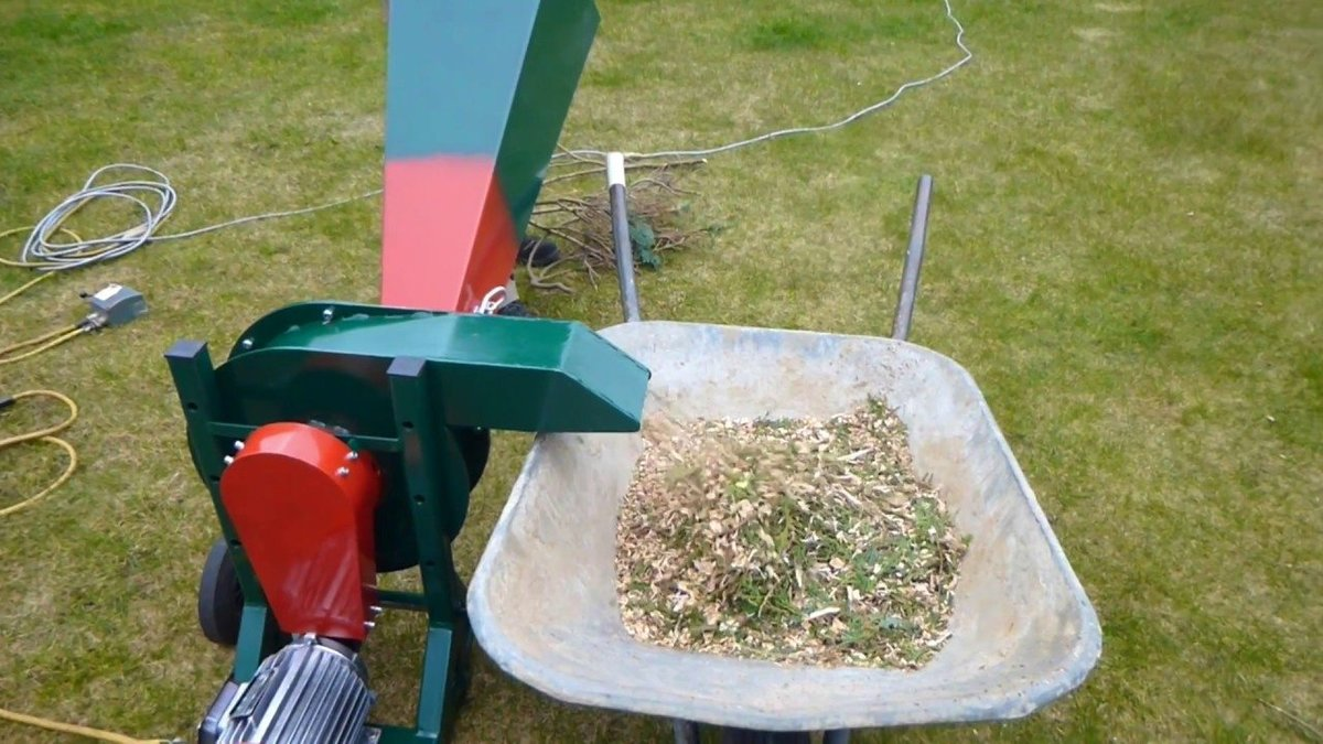 самодельные садовые измельчители травы и веток