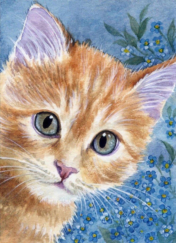 рисунки кошек и кошек многом