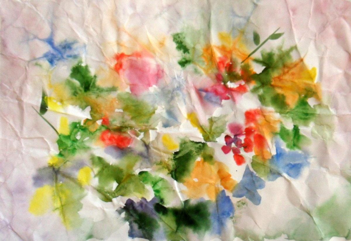 Нетрадиционное рисование мятой бумагой картинки