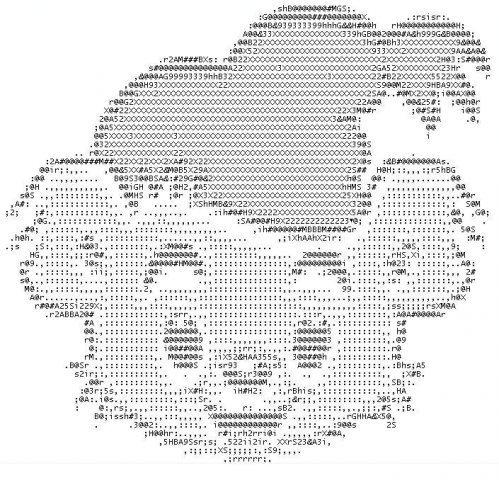 Картинка из символов мишки