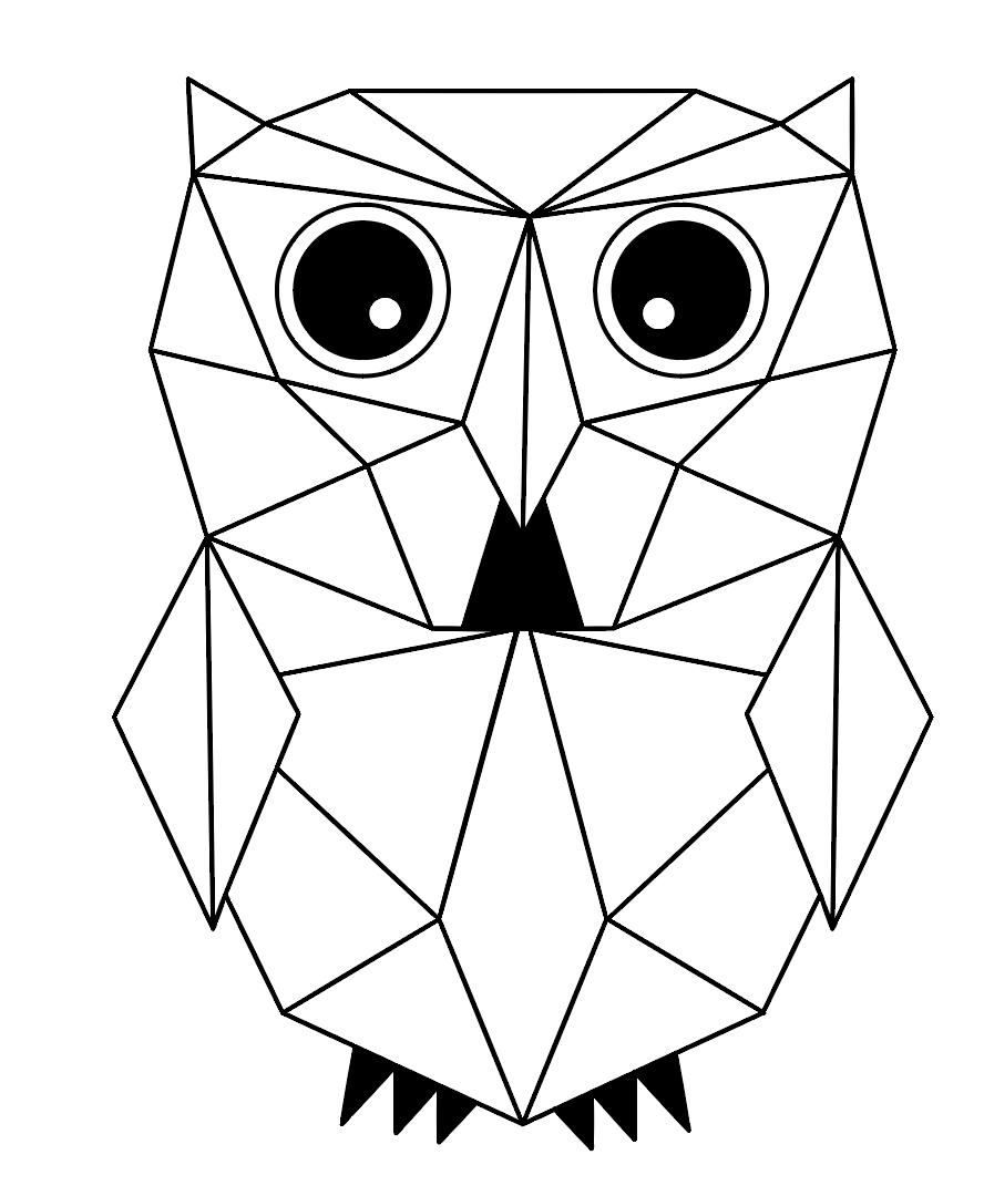 Геометрические картинки животных, днем рождения саша