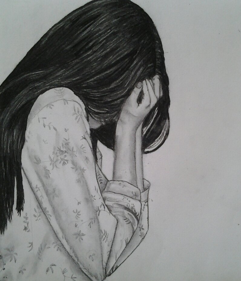 Простые картинки на аву грустные