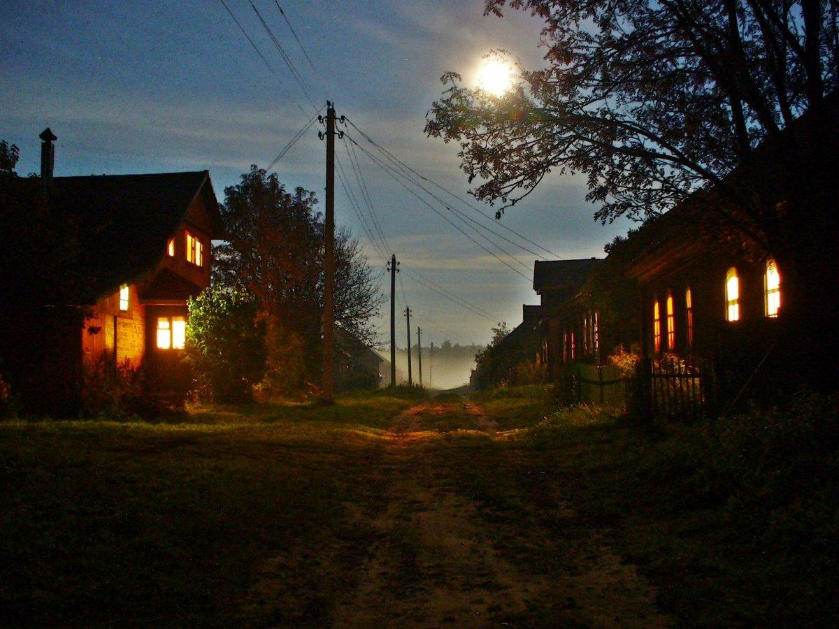 них улица ночная в деревне картинки современными, позволяйте