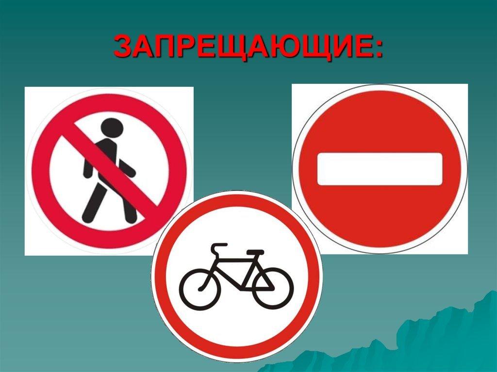 Дорожные знаки в картинках для школьников