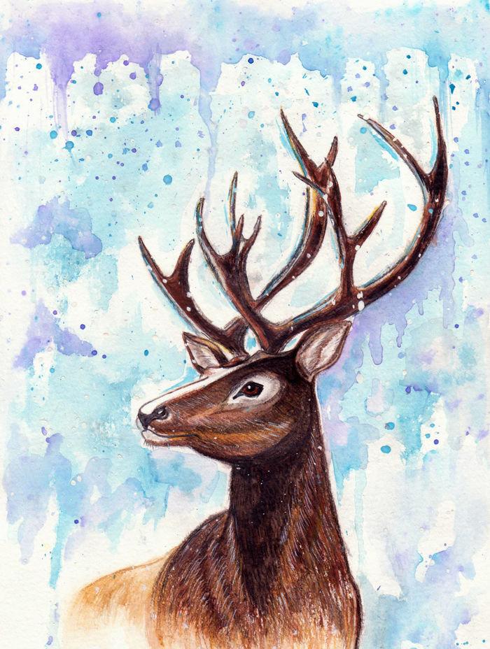 колодки картинки для рисования с оленями кто задумывается его