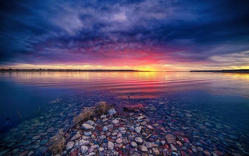 Eyes Nature Sunrise Lake Blonde Uflash 1