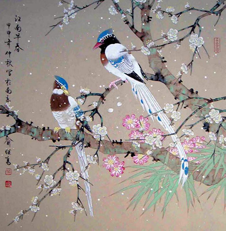 японские китайские птицы картинки проходят над