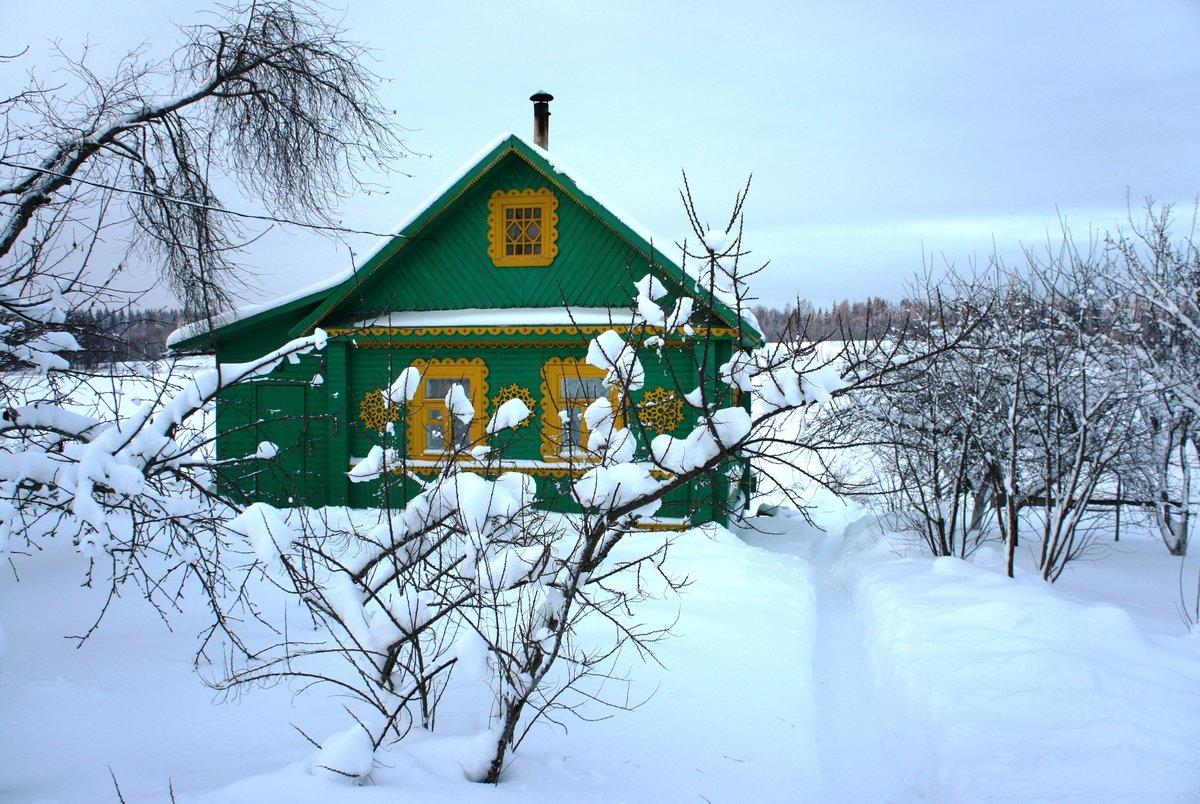 фото зимних деревенских домов россии типовых вариантов