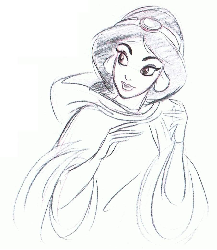 Жасмин картинка карандашом