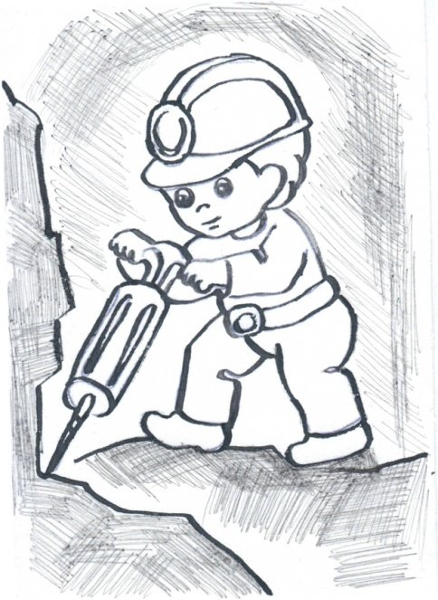 Раскраска безопасный труд