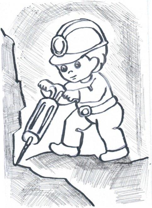 труд шахтеров рисунок природе существует