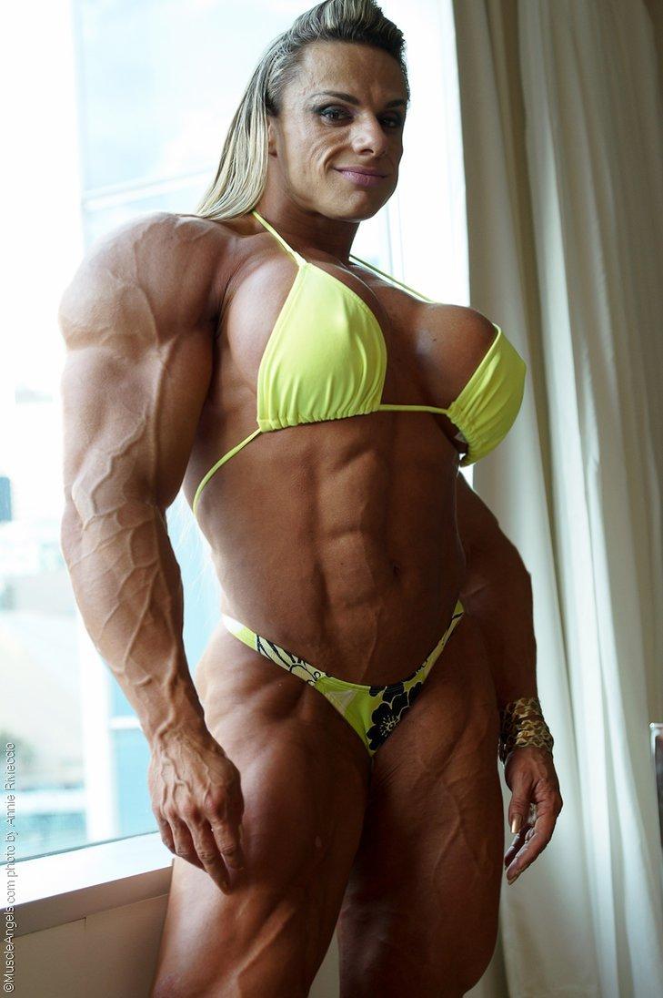 Women body builders topoless, rebecca neuenswander nude