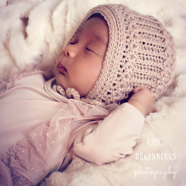 6aab0f9e822 ... The Horseshoe Cable Baby Bonnet is inspired by the knitted bonnet worn  by Prince Louis