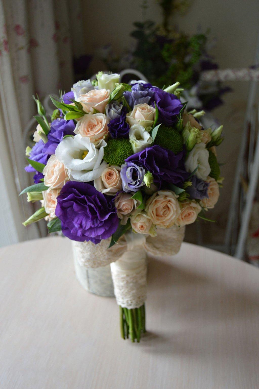 Букет невесты из эустомы лизиантус, покупка