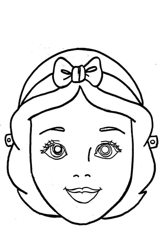 Детские картинки черно-белый шаблон личика куклы