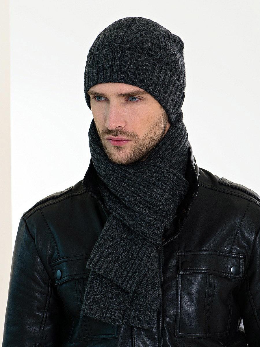 купить мужскую шапку и шарф
