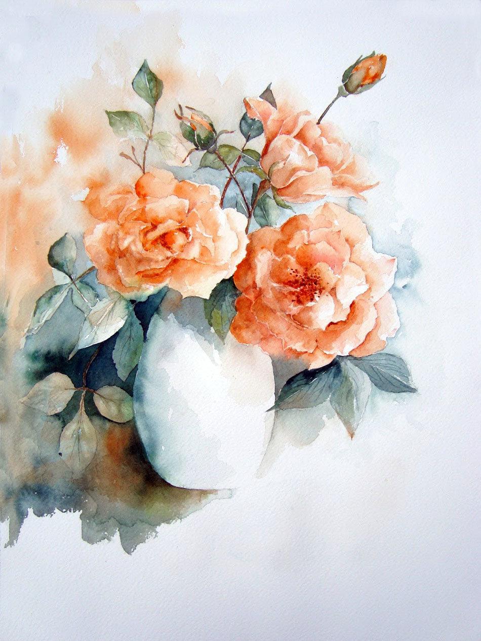 Акварельные картинки цветы