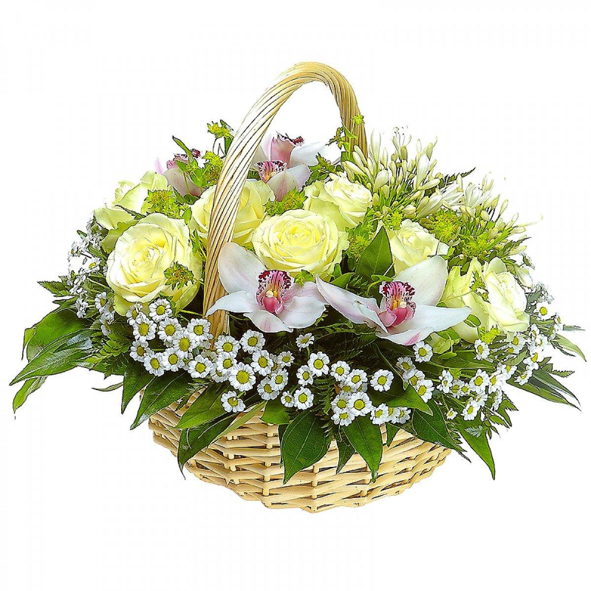 Композиции цветов в корзине купить минск, цветов оптовая московская