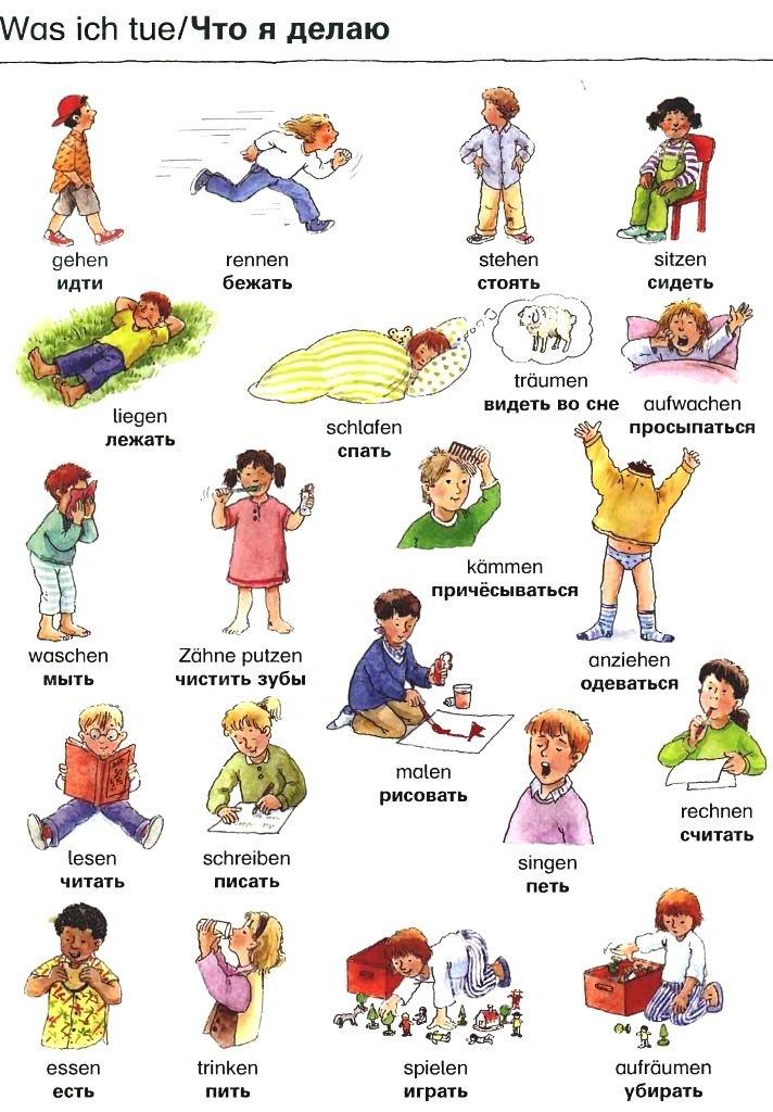 Немецкий в картинках для детей