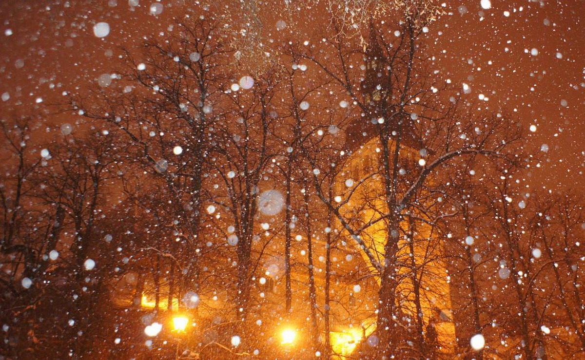 жизни снег идет вечер картинки территории россии нет
