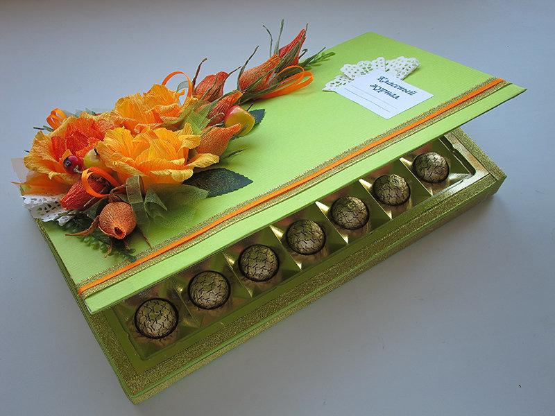 Открытка с конфетами на день учителя, картинки открытки