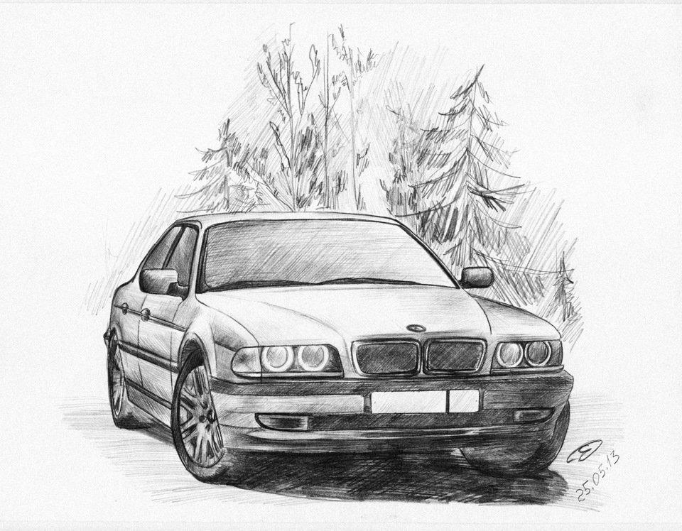 Рисовать машины карандашом картинки