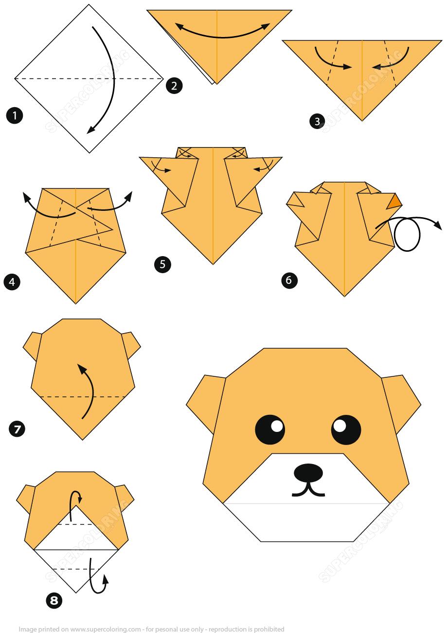 Оригами рисунок схема