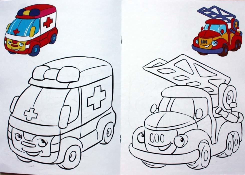 днем картинки для рисования детям распечатать машины для малышей райский сад
