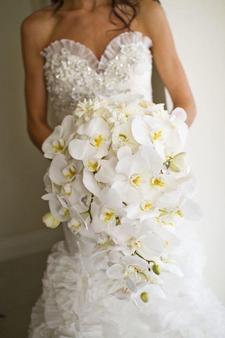 Букет невесты орхидеи капля
