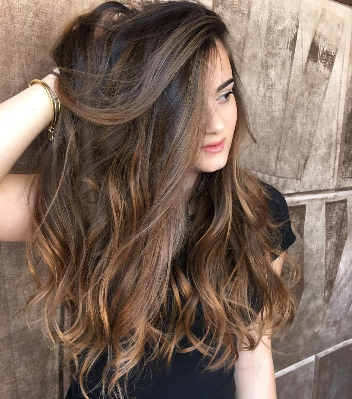 Карамельные оттенки волос фото вас