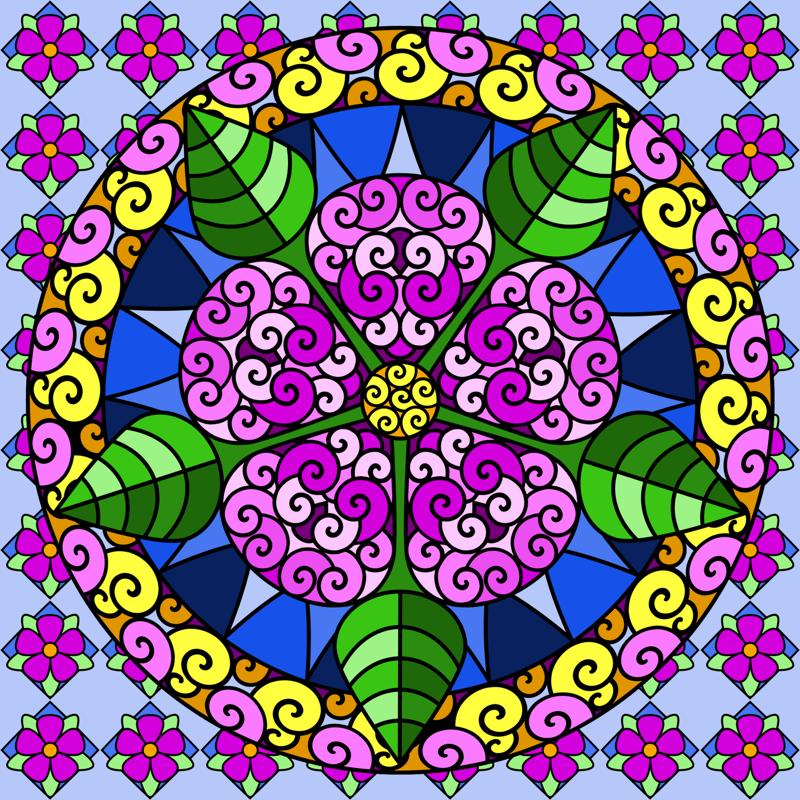 цветок в квадрате картинки монеты
