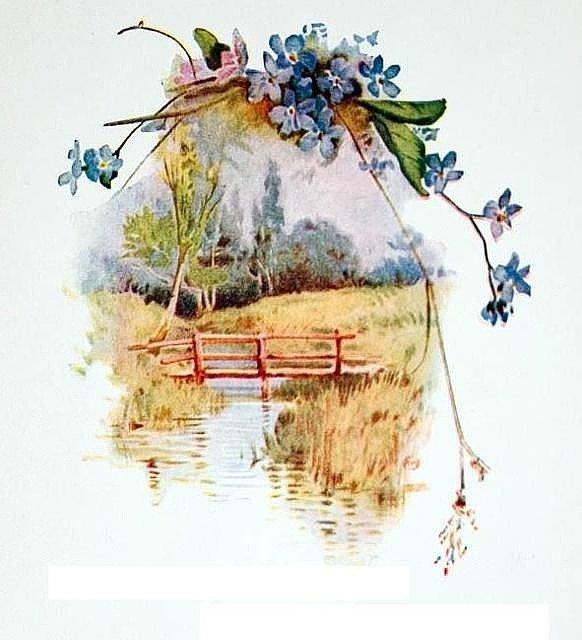 Весна открытка ретро