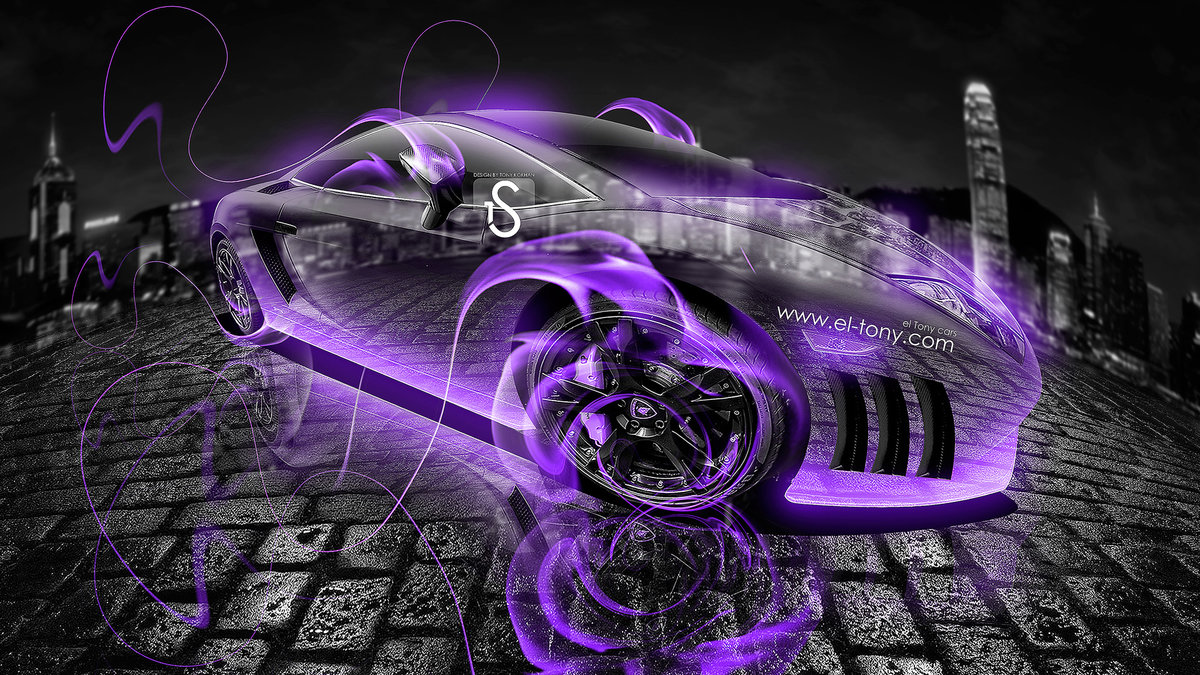 Lamborghini Gallardo Violet Fire Crystal Car 2013 HD