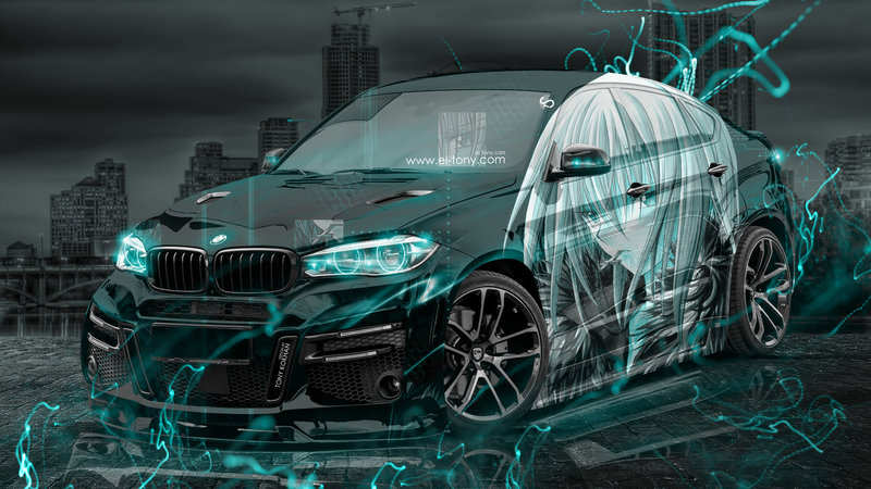 BMW X6 Lumma Tuning 3D Anime Boy Aerography