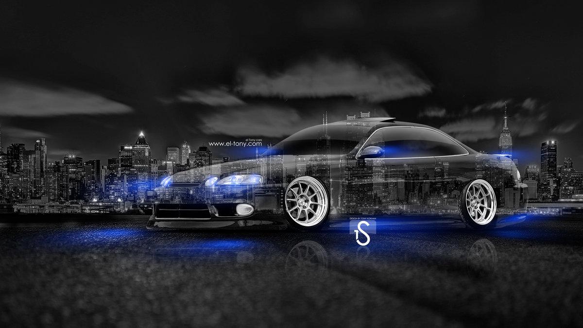 Toyota Soarer JDM Crystal City Car 2014 Blue