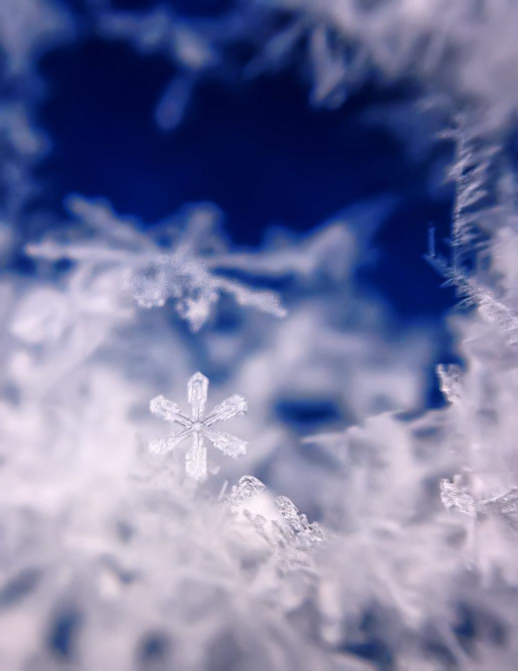 Картинки зима снежинка