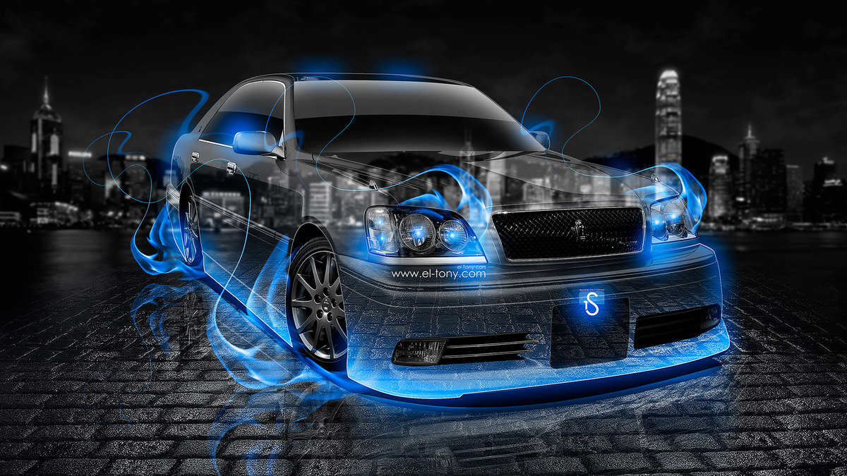 Awesome Toyota Crown Athlete JDM Blue Fire Crystal Car 2013 HD Wallpapers By ...