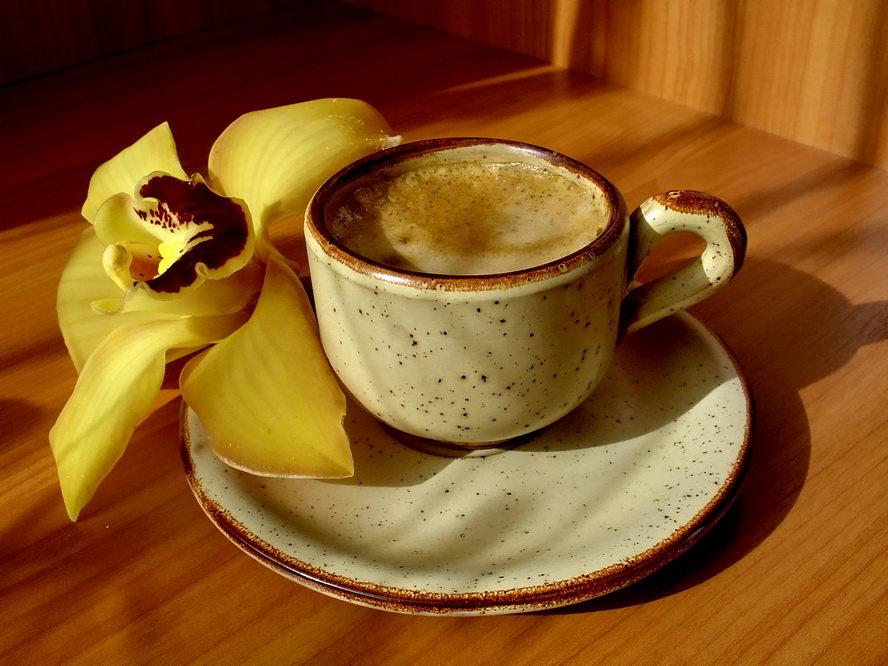 Открытка кофе с утра