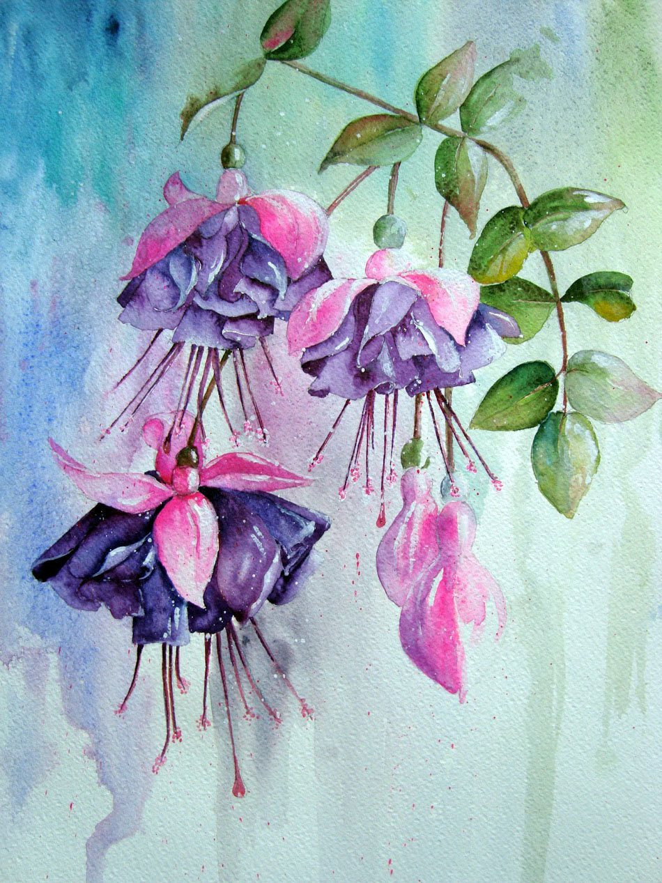 Картинки с цветами красивые нарисованные акварелью