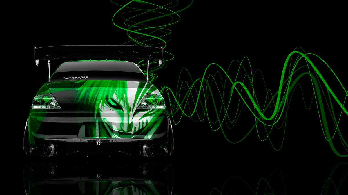 Captivating Mitsubishi Lancer Evolution JDM Back Anime Bleach Aerography