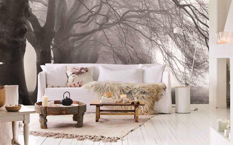фотообои за диваном фото