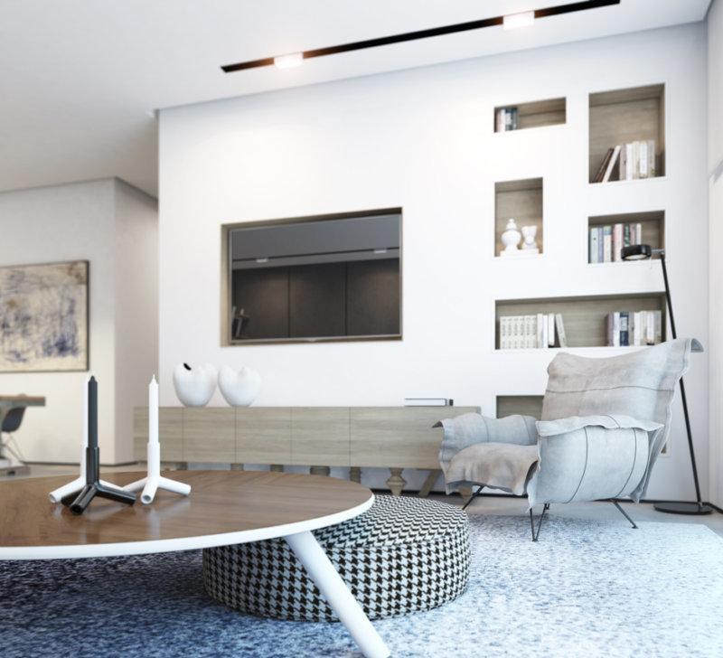 Дизайн гостиной с нишей в стене фото лук солью